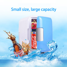 4L Mini Home Camping Fridge Beverage Cooler Portable Mini Fridge Freezer Drink Makeup Skin Care Refrigerator Car Fridge(China)