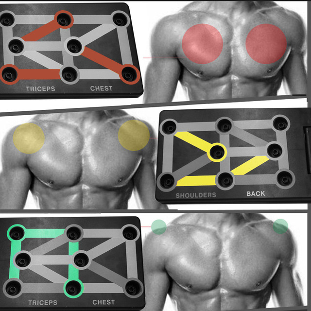 9 in 1 Push Up Board with Instruction Print Body Building Fitness Exercise Tools Men Women Push-up Stands For GYM Body Training 2