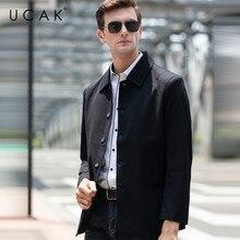 UCAK Brand Fashion Jackets Men Free Shipping Plaid Tops Casual Chaquetas Hombre New Spring Coat Streetwear Jacket  Men U8053