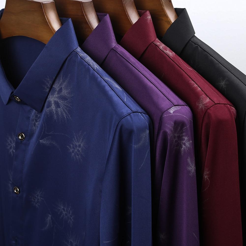 2020 Brand Long Sleeve Men Social Shirt Streetwear Casual Dandelion Shirts Dress Mens Slim Regular Fit Clothes Fashions 80503 4