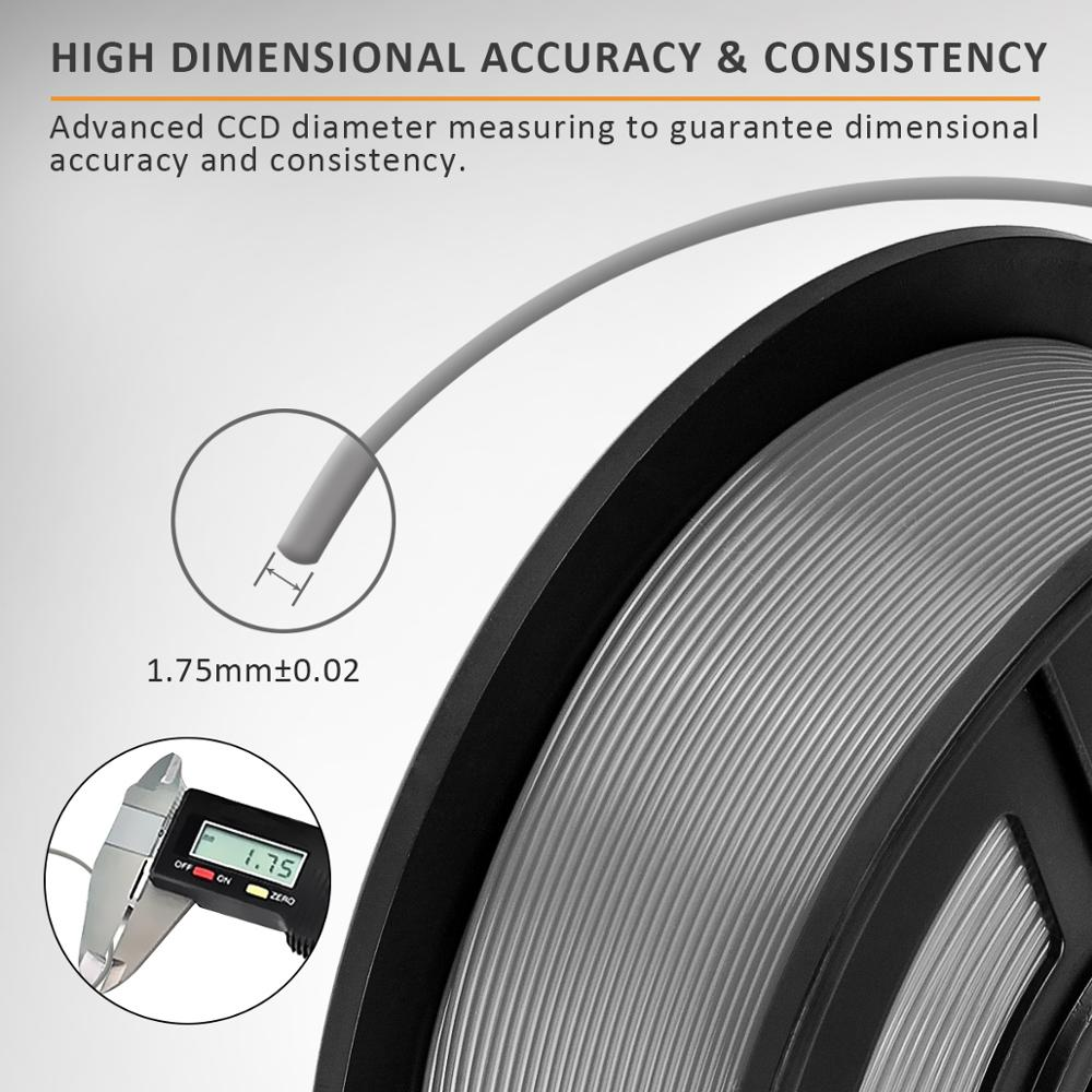 cheapest PETG Filament 1kg 1 75mm Tolerance 0 02mm FDM 3D Printer Material with Spool High Strength Non-toxic 100percent No Bubble Filaments