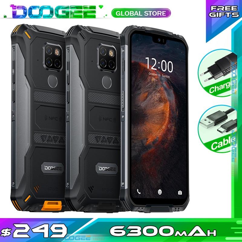 "Teléfono resistente a prueba de agua Doogee S68 Pro Helio P70 octa-core 6GB 128GB carga inalámbrica 5,84 ""pantalla IPS 6300mAh 12V/2A Smartphone"