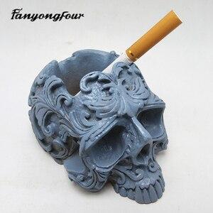 Image 5 - Schedel bloempot siliconen mal bakvorm kaars hars chocolade snoep gips mold gratis verzending