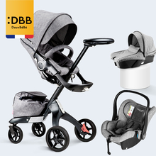 High landscape baby stroller 3in1 stroller luxury newborn carriage with car seat