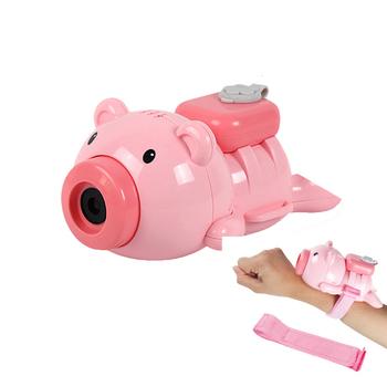 Ręka sobie bańka świnia zegarek woda dmuchanie zabawki chłopiec dziewczyna automatyczna bańka dmuchanie nadgarstka bańka mydlana dzieci na zewnątrz tanie i dobre opinie CN (pochodzenie) Z tworzywa sztucznego