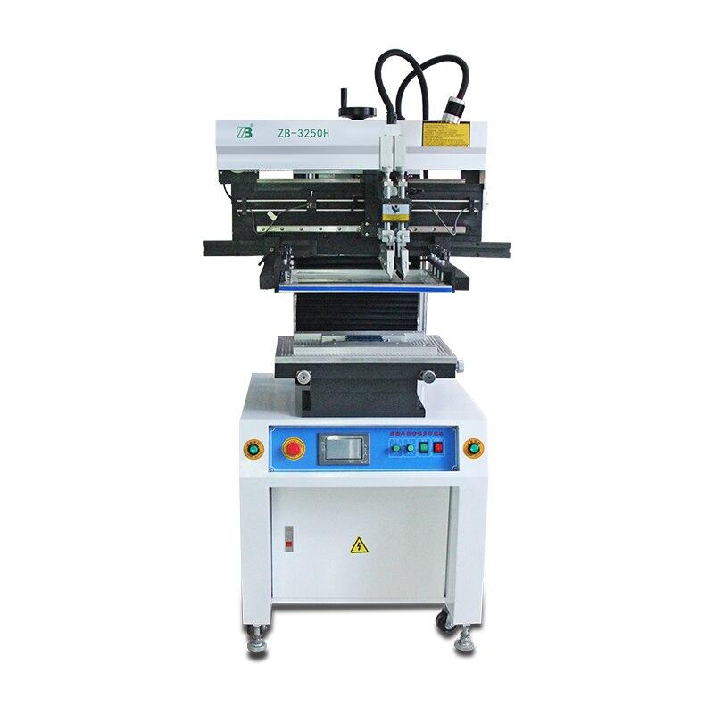 Полуавтоматическая светодиодная печатная машина smt для припоя печатная машина pcb и трафарет для пайки принтера