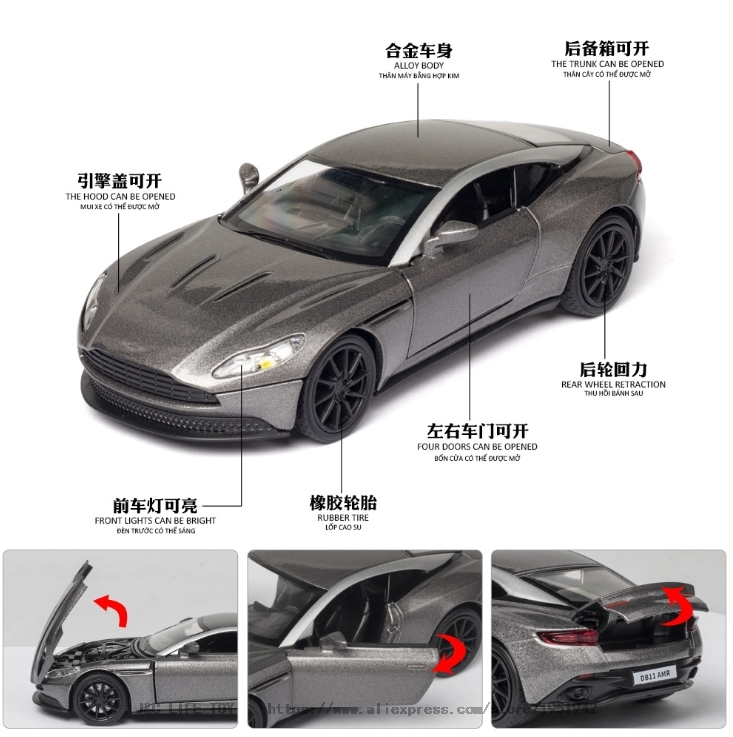 1 32 Aston Martin Db11 Amr Diecasts Toy Vehicles Metal Toy Car Model High Simulation Pull Back Collection Kids Toys Hot Discount F245 Cicig