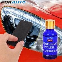 FORAUTO – Kit de réparation de phares de voiture, 30ML, oxydation, revêtement pour rétroviseur, polissage, Solution de revêtement liquide anti rayures