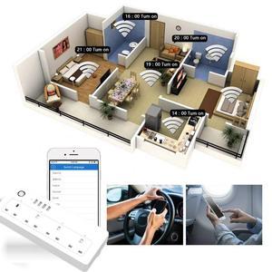 Image 5 - Wifi חכם כוח רצועת מגן 4 דרך חנויות בריטניה חשמל שקעי תקע USB Homekit שלט רחוק על ידי Alexa Google בית