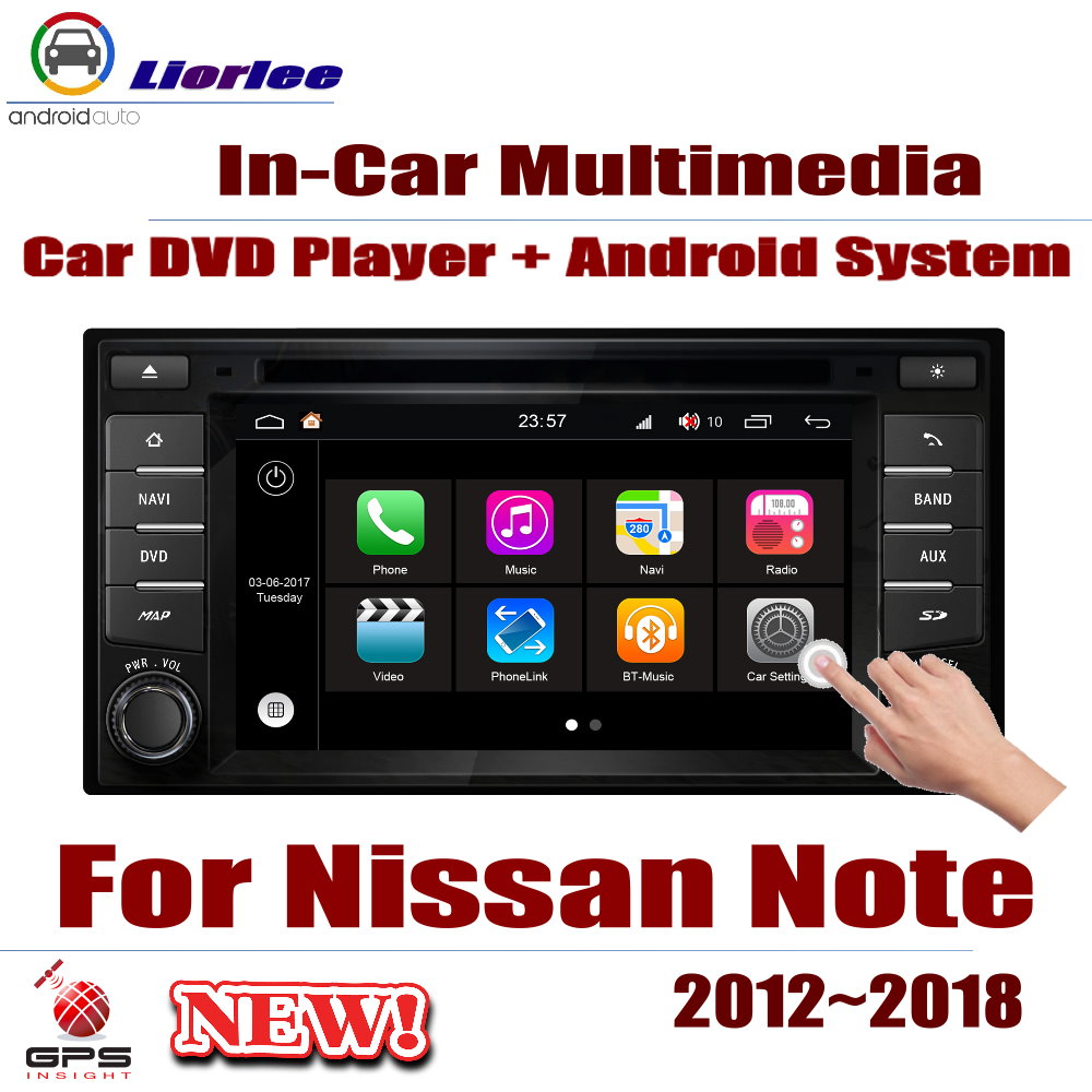 For Nissan Note 2012~2018 Car Android GPS Navigation DVD Player Radio Stereo AMP BT USB SD AUX WIFI HD Screen Multimedia image
