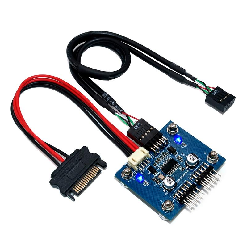 High Speed Expansion Module HUB Save Time And Energy For Convenience DC5V 4-Ports USB 2.0 With SATA USB 2x5P Cable