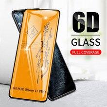 6D Высокое качество Полный Клей полное покрытие закаленное стекло для iPhone 11 протектор экрана для iPhone 11 Pro Max