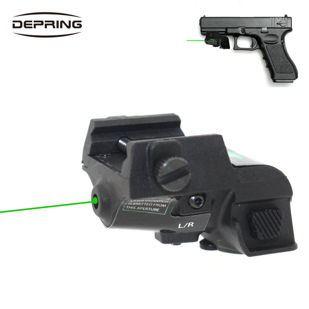 Micro Green Dot Laser Sight Rechargeable Subcompact Pistol Green Laser Scope Universal Rail Mount