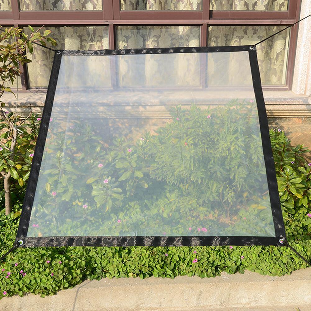 Plant Transparent Canopy Soft Glass Rain Film Clear Waterproof Cover Tarp PVC Rainproof Plastic Film Windshield For Garden