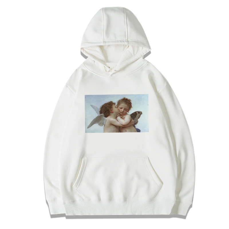 Angel Baby Michelangelo Hoodies Sweatshirts Men/women Casual Long Sleeve Print Van Gogh Art Oil Painting Hooded Hoody For Girls