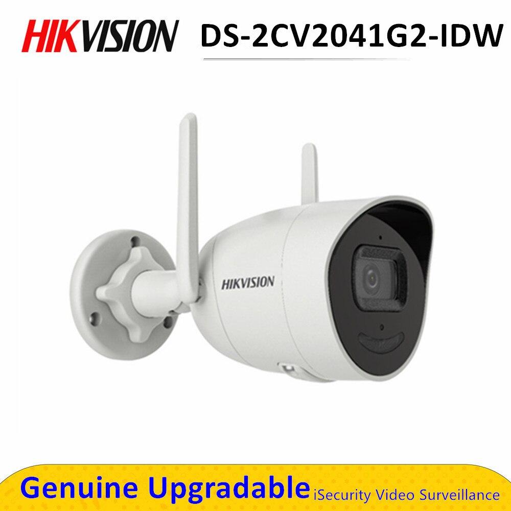 Hikvision – caméra Bullet IP Wifi 4MP sans fil DS-2CV2041G2-IDW IR, avec fente pour carte SD, H.265 +, étanche, remplace le modèle DS-2CD2041G1-IDW1