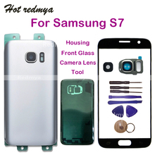 Get more info on the Touch Screen Front Outer Glass For Samsung Galaxy S7 G930 G930F Rear Back Battery Door Housing Cover+Camera Lens +Tools
