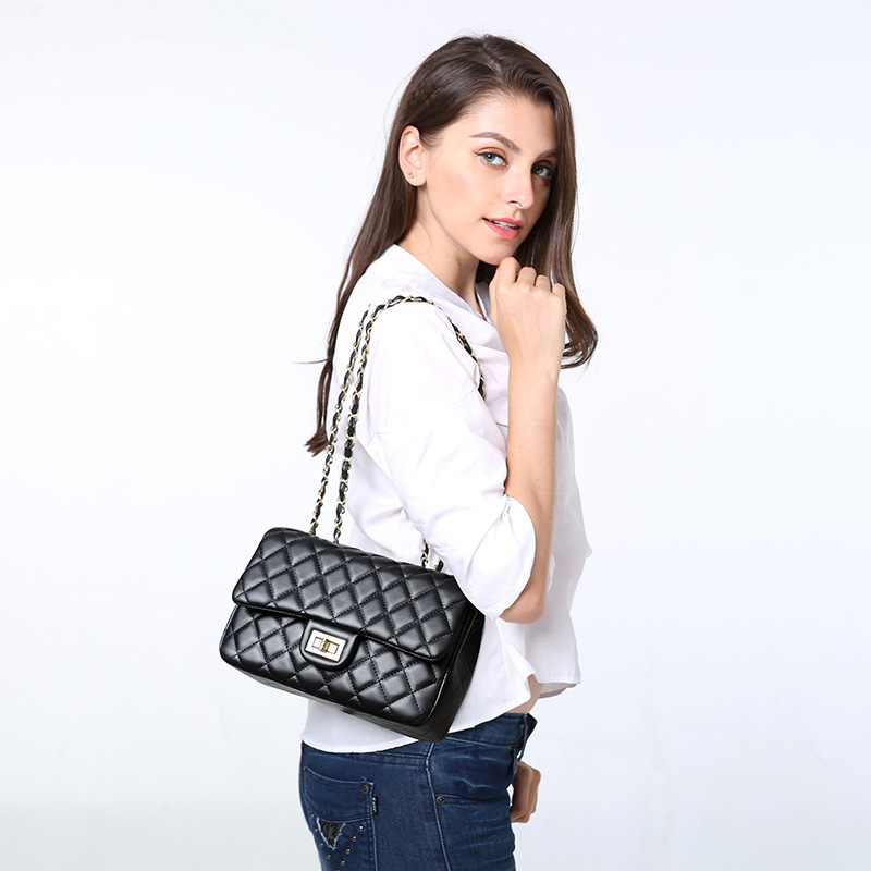DAI.MM HOT 2020 NEW Luxury Leather Women Messenger Bag Famous Brand PU Shoulder Bags Diamond Lattice Crossbody Bags For Women