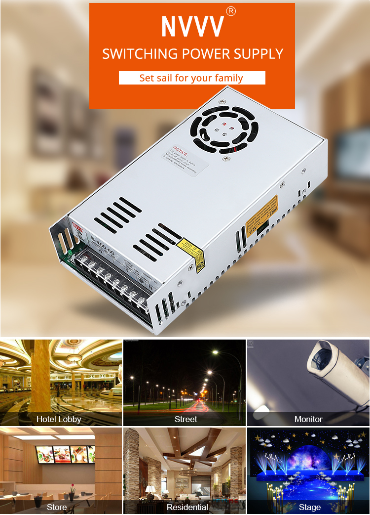 H29eb9f02534e411db12c8fc0282fc1cbW - NVVV switching power supply 15 w-400 w ac110/220v dc 5v 12 v 24 v 36 v 48 v60 v dc power supply (400w60v6.7a for RD6006)