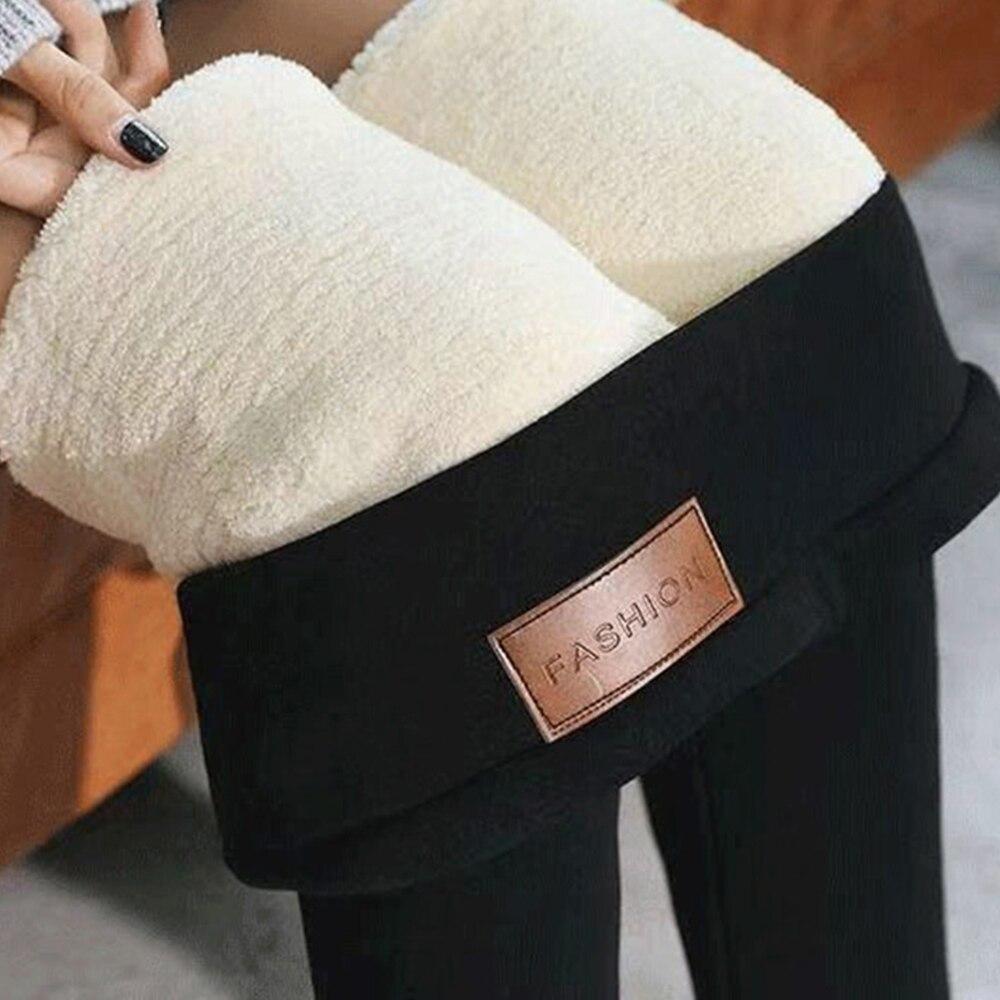 JODIMITTY Winter Warm Pants 2020 Thicken Skinny Velvet Casual Wool Feece Trousers High Waist Large Size Women Leggings