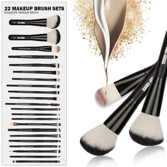 20/22Pcs Beauty Makeup Brushes Set Cosmetic Foundation Powder Blush Eye Shadow Lip Blend Make Up Brush Tool Kit MENGSHANG MAANGE 3