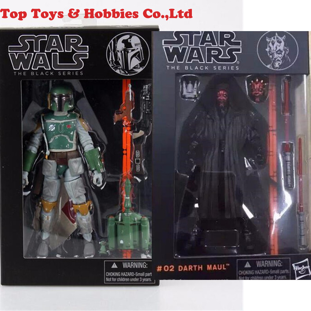 6 inches Star Wars the black series 3 Boba Fett / Darth Vader 6 PVC action figure anime comic toy gift toys for collection image