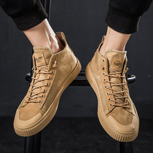 цена High Band Canvas Shoes, Men's Shoes, Quality Pigskin Breathable Sports Leisure Shoes, Men's Martin Boots онлайн в 2017 году