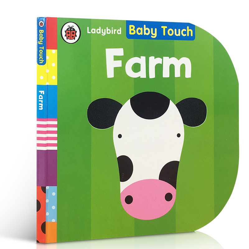 Baby Touch Farm Color Animal Cognition Children's English Cardboard Early Education Interesting Picture Book Educational Toys