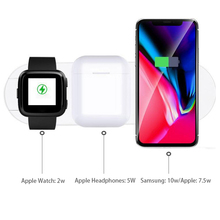 3 in 1 wireless charging stand for apple watch 4 3 airpods charging dock station qi 10w fast charger for iphone 11 x xs max xr 8 10W 3 in 1 Qi Wireless Charger Fast Charging Pad for iPhone X XS MAX XR for Apple Watch 4 3 2 1