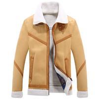Winter mens leather jacket khaki motorcycle coat men jackets Vintage faux fur clothes personalized jaqueta de couro fashion warm