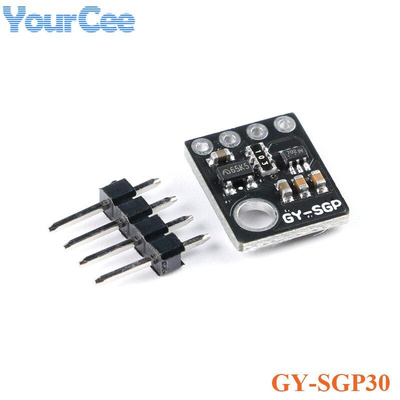 Модуль датчика газа SGP30, качество воздуха, TVOC eCO2, измерение углекислого газа, GY-SGP30 модуль детектора воздуха формальдегида, 3,3 В, 5 В, IIC