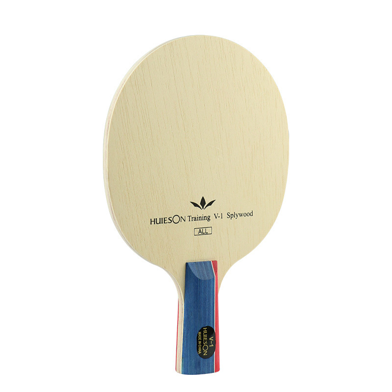 Wood Ping Pong Racket Blade Table Tennis Racket 5 Layers 2 Handle Models Medium Speed Beige Lightweight Durable