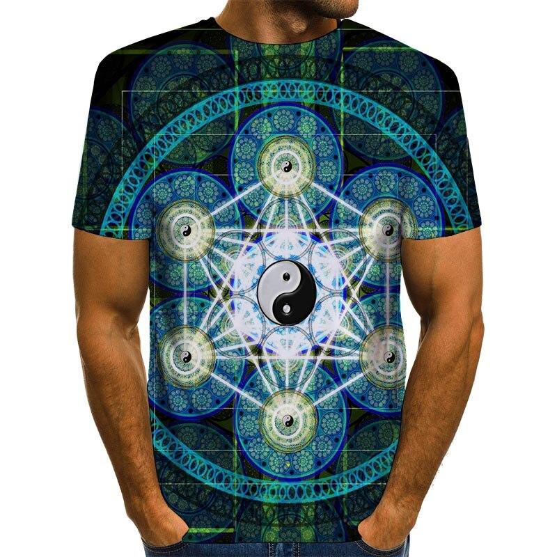 Мужская рубашка для медитации, футболка с 3D принтом, летние Графические футболки, топы с рисунком тайчи|Футболки| | АлиЭкспресс