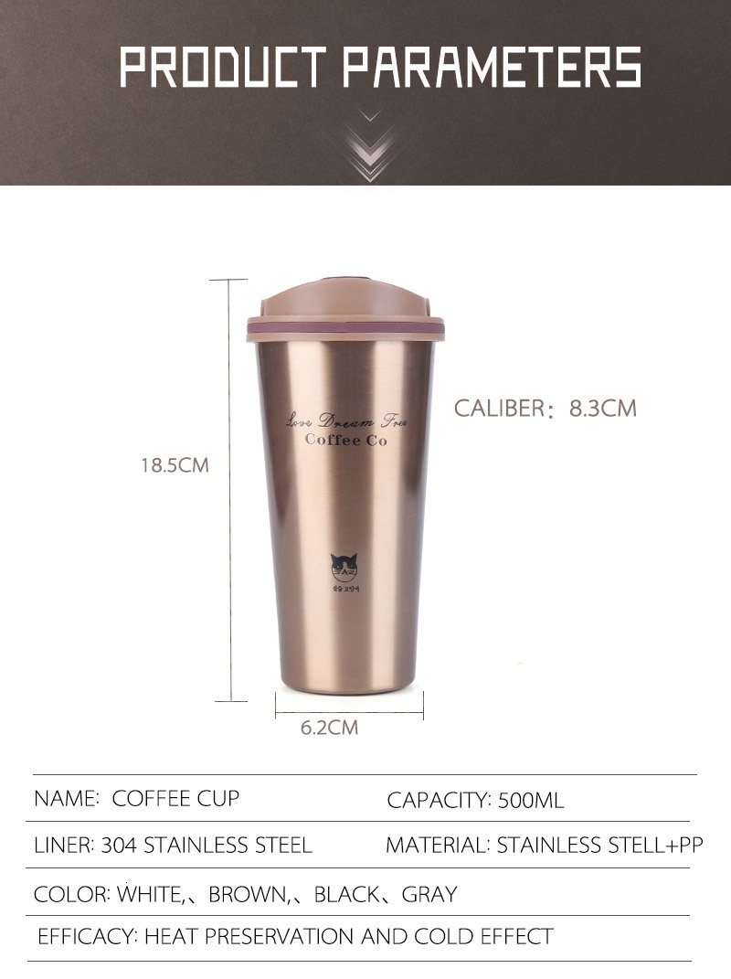H29ec84b836d9491bb0dc2711e4ca3e205 Hot Quality Double Wall Stainless Steel Vacuum Flasks 350ml 500ml Car Thermo Cup Coffee Tea Travel Mug Thermol Bottle Thermocup