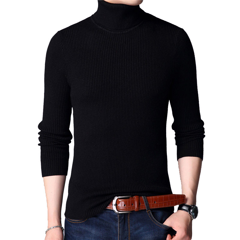 Christmas Sweater Men Clothes 2019 Winter Thick Warm Mens Sweaters Casual Classic Turtleneck Cashmere Pullover Men J741