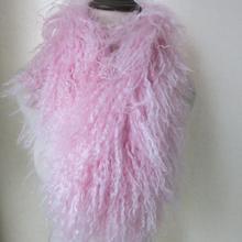 Женский шарф из натуральной монгольской овечьей шерсти, теплый шейный платок ручной работы, пушистый мягкий черный, коричневый, розовый, серый