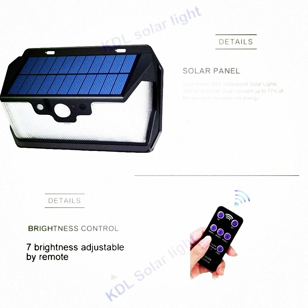 55 LED 900lm Solar Light Remote Control Radar Smart   Switch Ip65 Waterproo IP65  Camp Street Wall Lamp Yard  Garage Pa