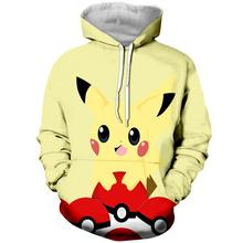 New Pokemon 3D Print Cartoon Sweatshirt Men and Women Fashion Hoodie Turban Shirt Harajuku