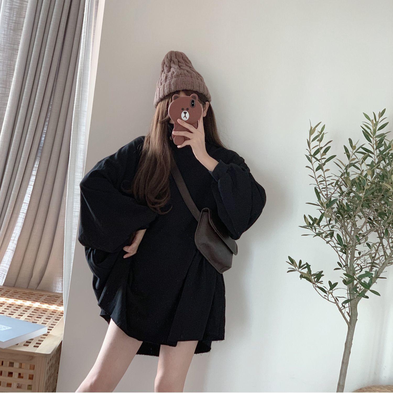 Sweatshirt girl street wear loose hip-hop Harajuku female casual long-sleeved female high street super large round neck 4