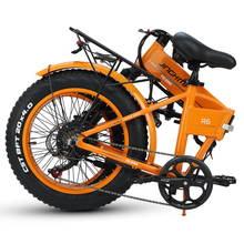 Orange Folding Electrical Bike 20 Inch 500W 48V 12.8AH LG Lithium Battery Foldable Mountain Seaside E-bike Street Snow Metropolis Bicycle