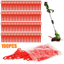 100Pcs/Set 83mm Plastic Blade Pendants for Cordless Grass Trimmer Blade Cutter Lawn Trimmer Spare Blade Garden Replacement Tool