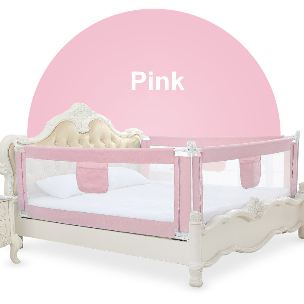 2M Baby Bed Fence for Child Safety used as Baby Gate from Falling Accidentally while Sleeping or Playing 16