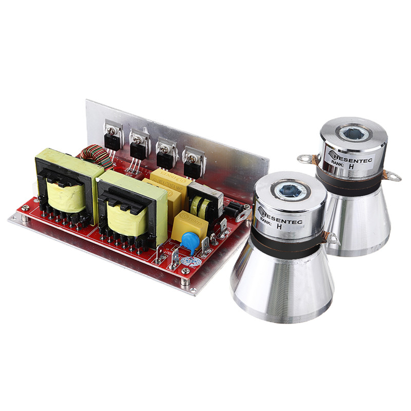ultrasonic transducer driver 132*85*45mm 28k/40k 100W/50W PCB generator included ultrasonic transducers for ultrasonic cleaner