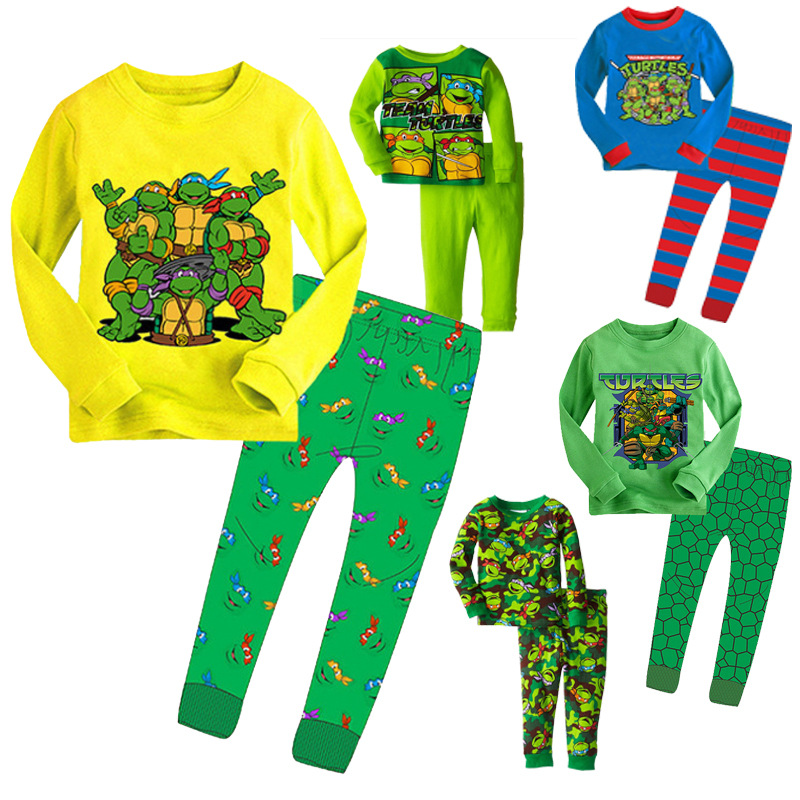 BOY'S Teenage Mutant Ninja Turtles Knitted CHILDREN'S Pajamas Children Clothing Home Clothes Childrenswear A Ready