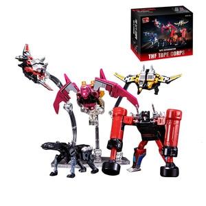 Image 5 - KBB G1 Transformation Robot Soundwave Six Magnetic Tape Troop THF 01P6 Rumble Laserbeak Buzzsaw Anime Action Figure Model Toys