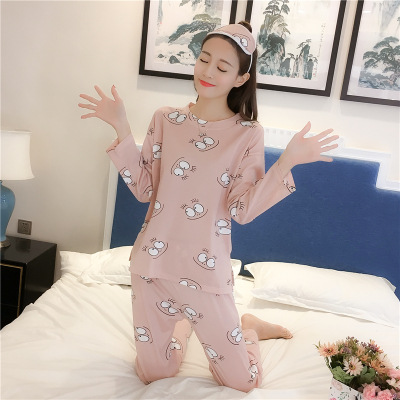 891 # Small Eyes Pajamas Women Long Sleeve Send Eye Patch Three-piece Set-Women's Tracksuit Cartoon Animation Spring And Autumn
