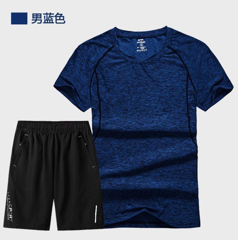 ZNG 2020  Sets Summer Men T Shirts+Shorts Sets Summer Hot Sale Cotton Comfortable Short Sleeve Tshirt Men Casual Set Short