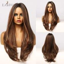 EASIHAIR – perruque synthétique ondulée, longue, noire, brune, miel, Gloden, avec reflets, résistante à la chaleur, pour Cosplay, Afro, pour femmes noires