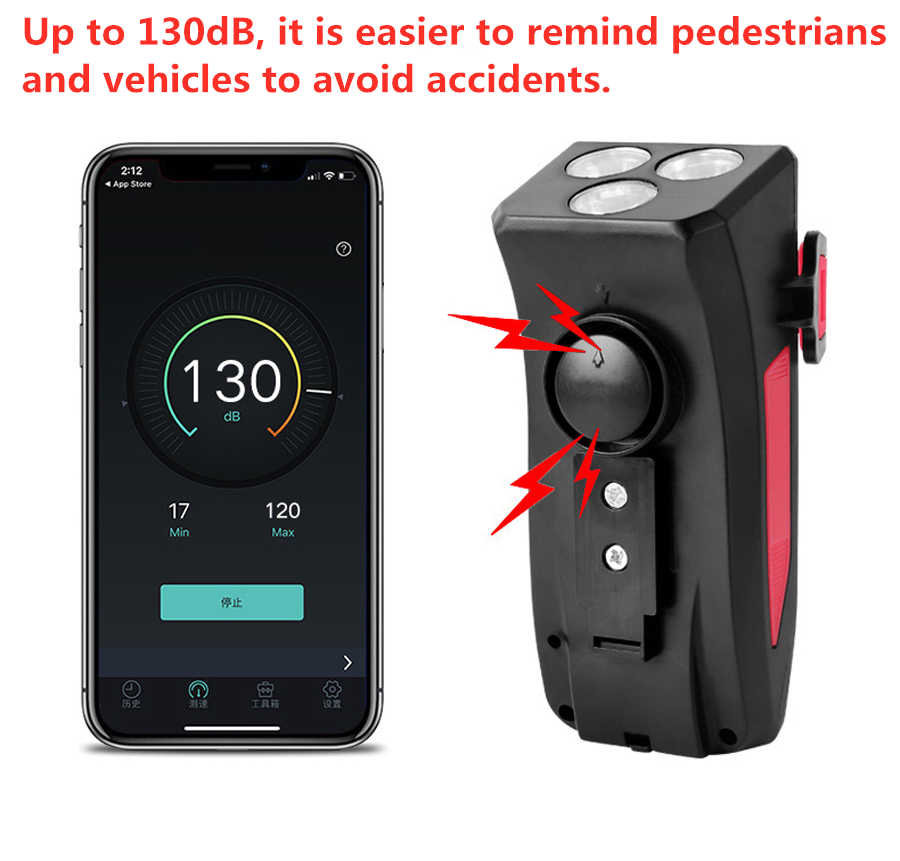 USB Rechargeable 4 in 1 Bicycle Front Light with Power Bank Phone Holder BESTSUN Bike Headlight and Taillight Set Waterproof 3 Modes Bike Head Light and Rear Light for Mountain/&Road Cycling Horn