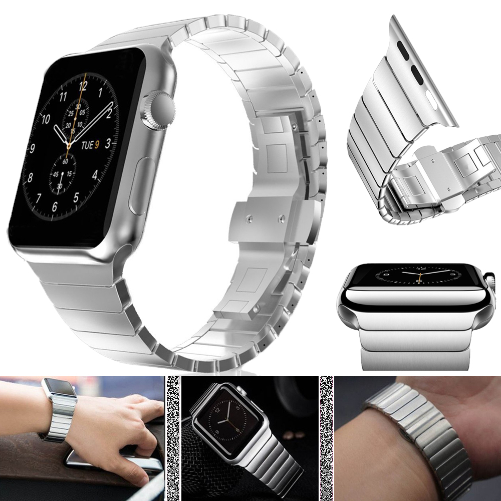 Stainless Steel Strap For Apple Watch 5 4 3 2 1 Band Metal Bracelet for Apple Watch Accessories 44mm 40mm Wristband for iWatch|Watchbands| |  - title=